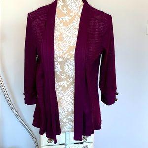 Debbie Morgan purple lightweight sweater